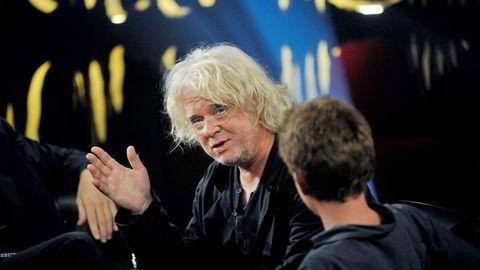 Kunstner Odd Nerdrum på innspillingen av TV-programmet Skavlan i Stockholm i 2011.
