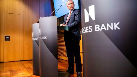 Nicolai Tangen (53) tar over som oljefondssjef i september. Torsdag forrige uke stilte han opp på en pressekonferanse om ansettelsesavtalen med Norges Bank.