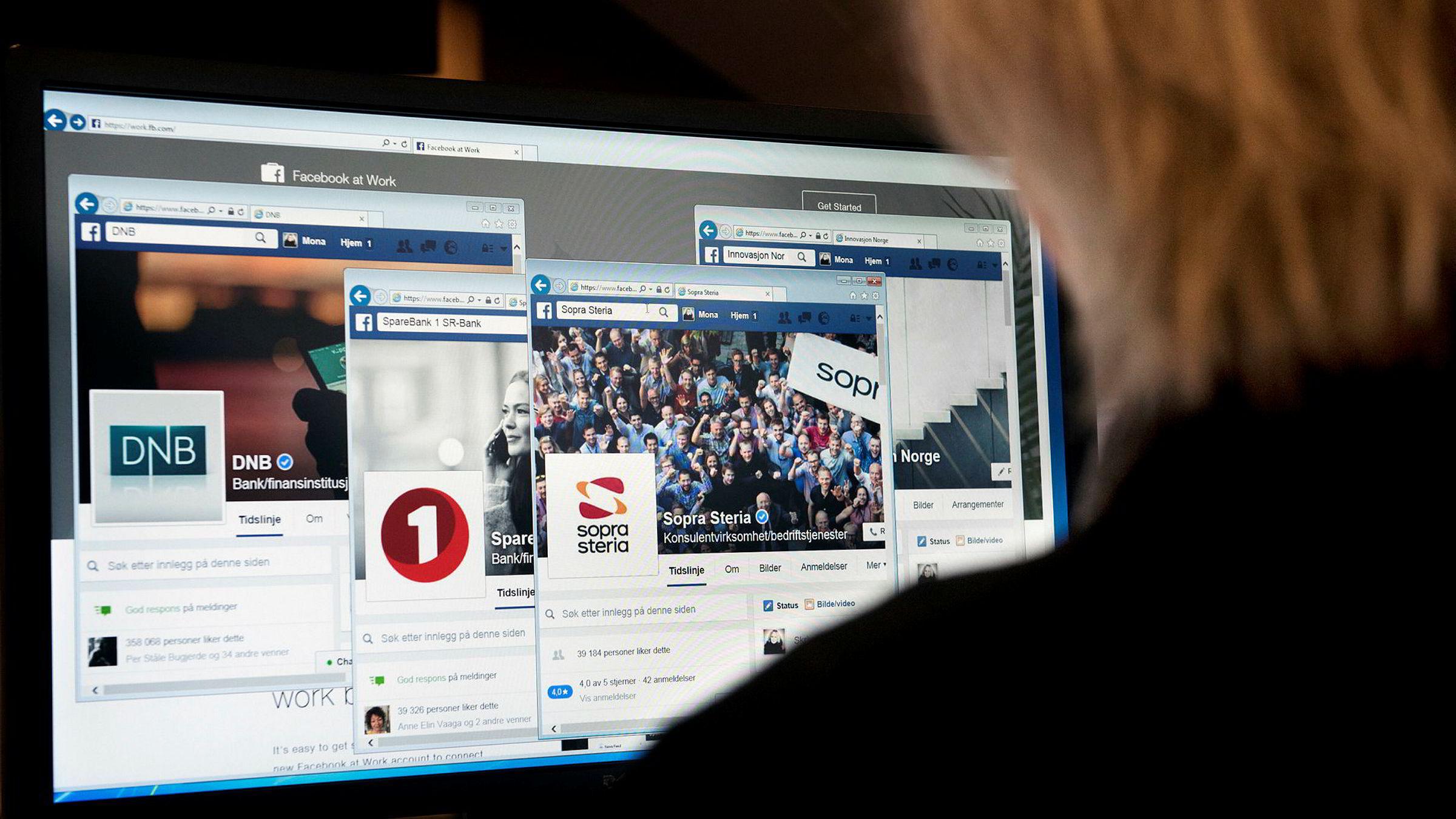 Facebook at work (bildet) ble i oktober til Workplace by Facebook.