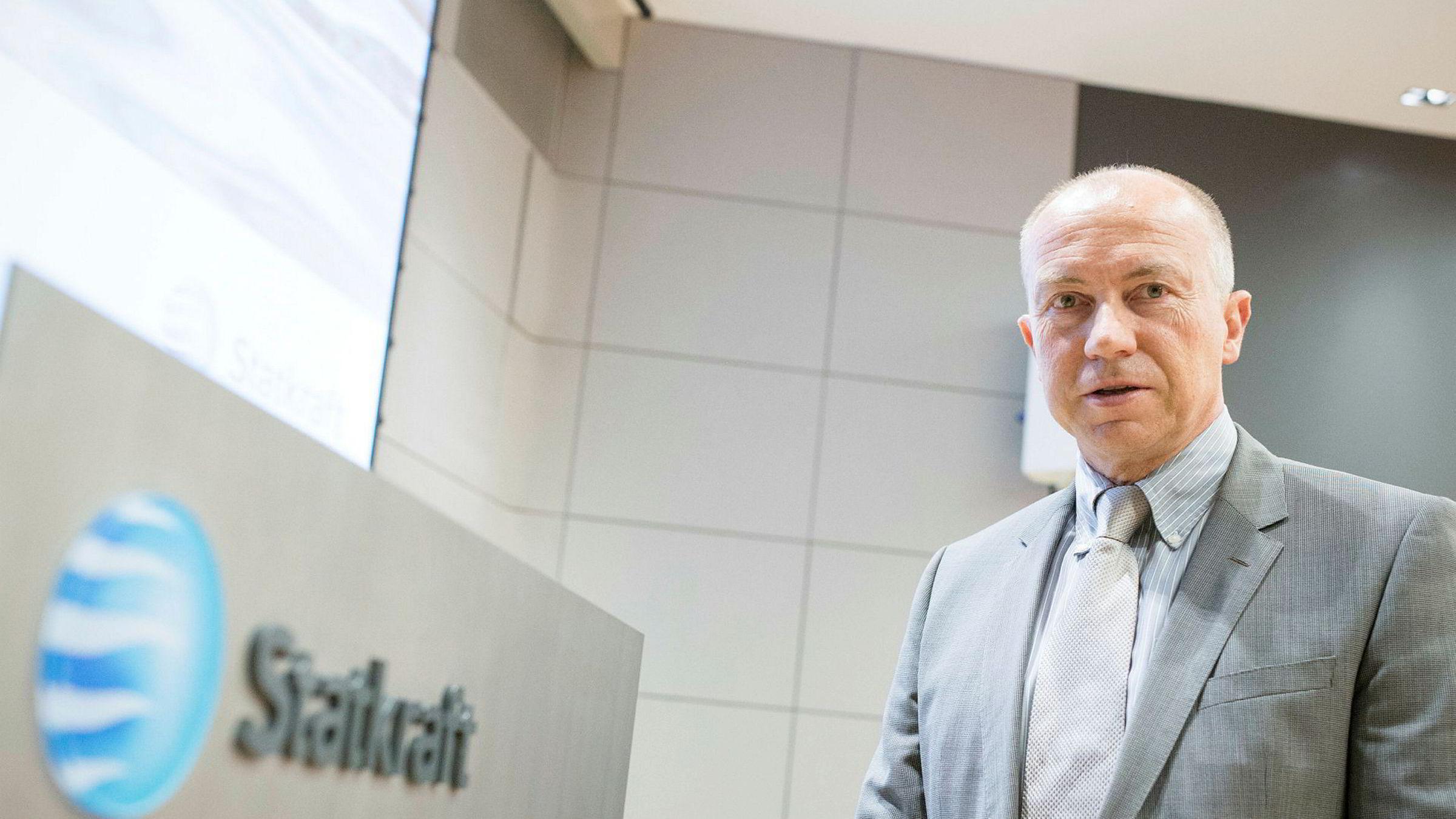 Konsernsjef Christian Rynning-Tønnesen i Statkraft er fornøyd med resultatene.
