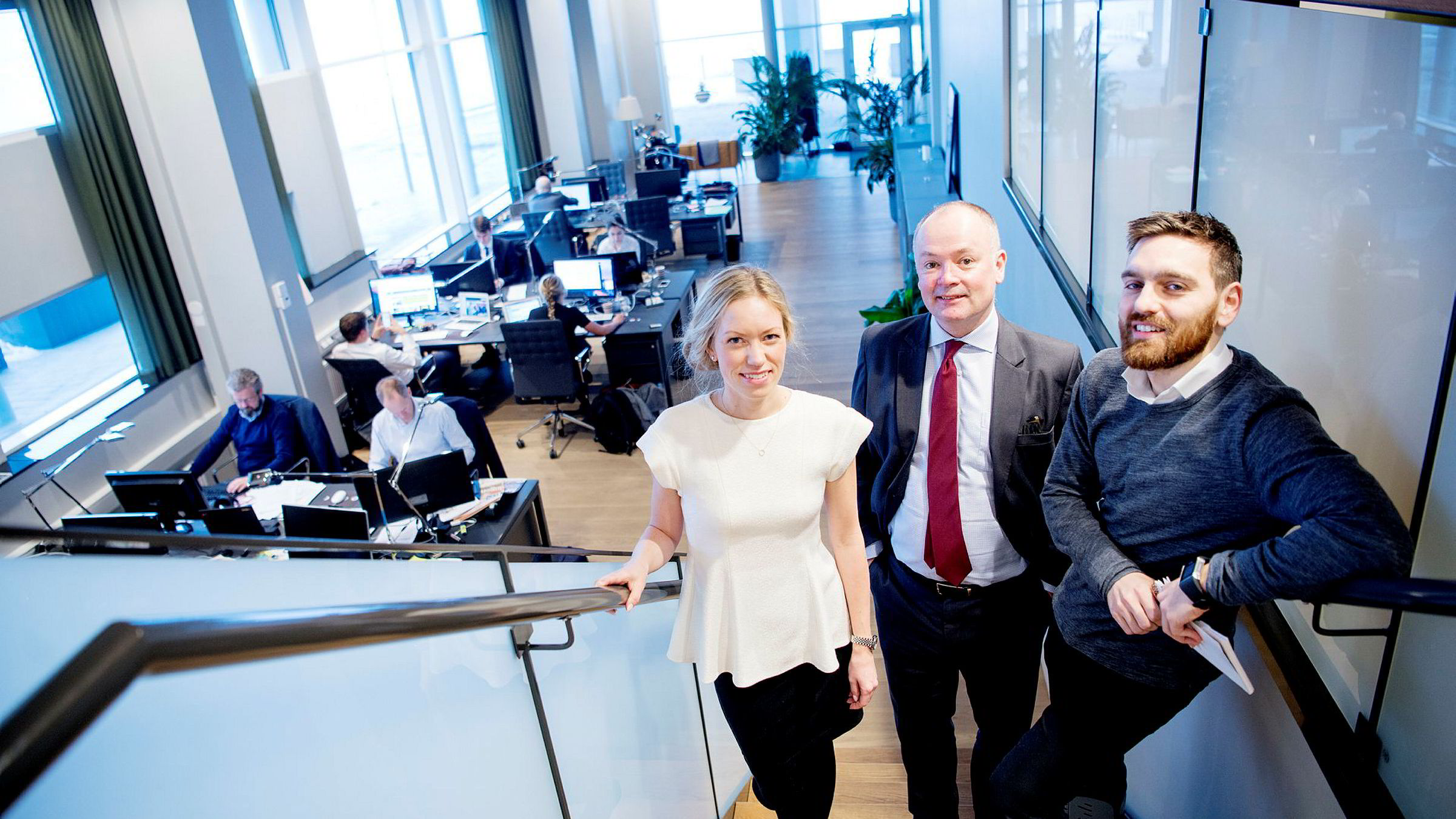 Are Slettan (midten) tar over som ny ledende partner i Corpcorate Communications, en jobb Maria Melfald Tveten og Ben Holan har delt på de siste to årene.