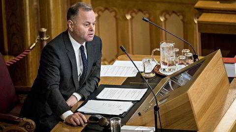 Stortingspresident Olemic Thommessen har trukket seg etter at KrF trakk støtten.