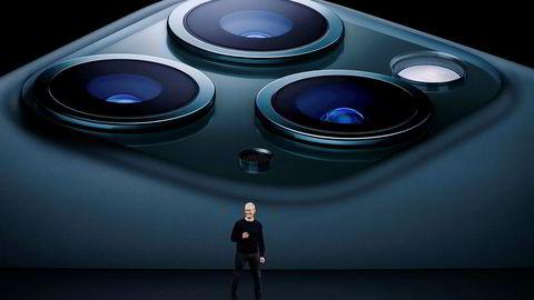 Apple-sjef Tim Cook la frem selskapets tall for fjerde kvartal 2019 onsdag kveld.