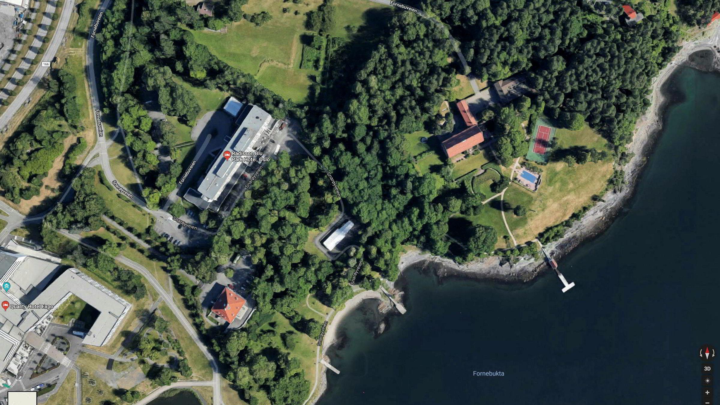 KLP Eiendom og investor Arne Fredly foreslår å bygge boliger på KLPs hotelltomt og deler av Fredlys prakteiendom ved Lysakerfjorden.