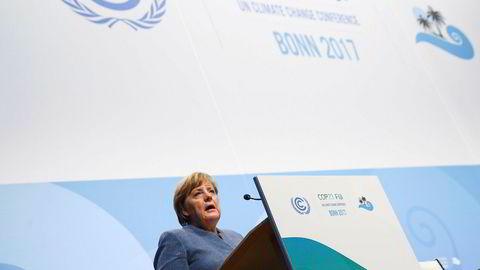 – Vi bruker fortsatt mye kull, sa Tysklands forbundskansler Angela Merkel da hun talte ved åpningen av høynivådelen av årets klimakonferanse, som er nummer 23 i rekken.