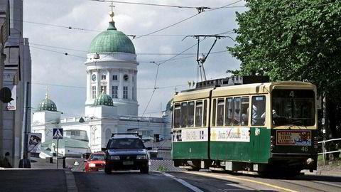 Mandag starter Finland sitt sosiale og økonomiske eksperiment med statlig basislønn. Bildet er fra hovedstaden Helsinki.