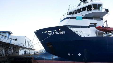 Rem Provider er et av mange offshorefartøy som har måttet bli lagt i opplag.
