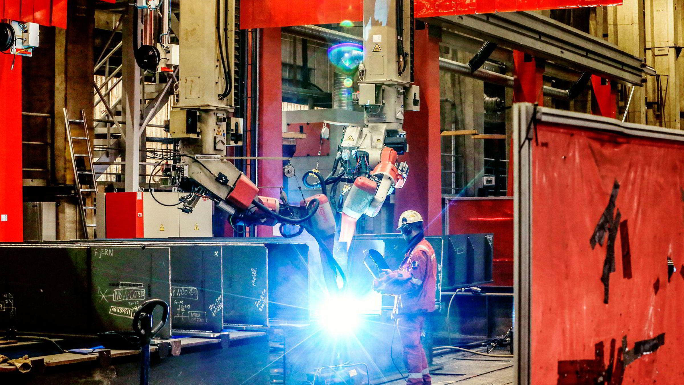 Den nye kontrakten sikrer aktivitet ved Kværners verksted i Verdal. I snitt vil 450 personer jobbe på prosjektet frem mot levering i mai 2019
