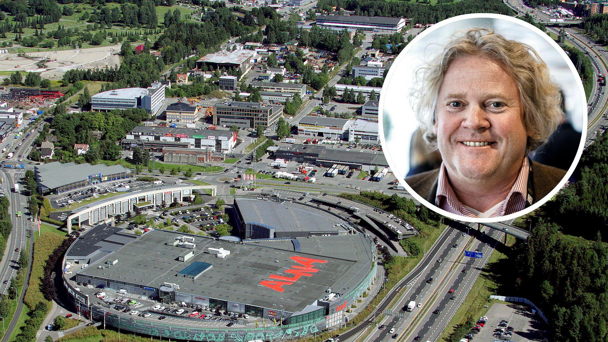 Dagligvaremilliardær Johan Johannson og familien satser på kjøpesenteret Alna senter på Alnabru i Oslo. Foto: Pangea Property Partners og Gunnar Blöndal