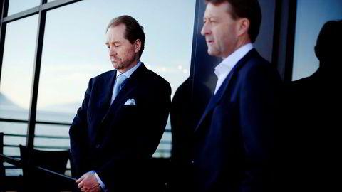 Kjell Inge Røkke og Bjørn Rune Gjelsten (til høyre).