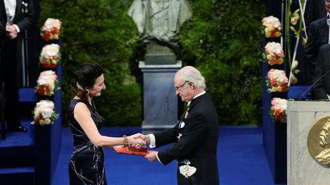 I 2014 overrakte kong Carl XVI Gustaf Nobelprisen i medisin til May-Britt Moser (bildet), Edvard Moser og britisk-amerikanske John O'Keefe.