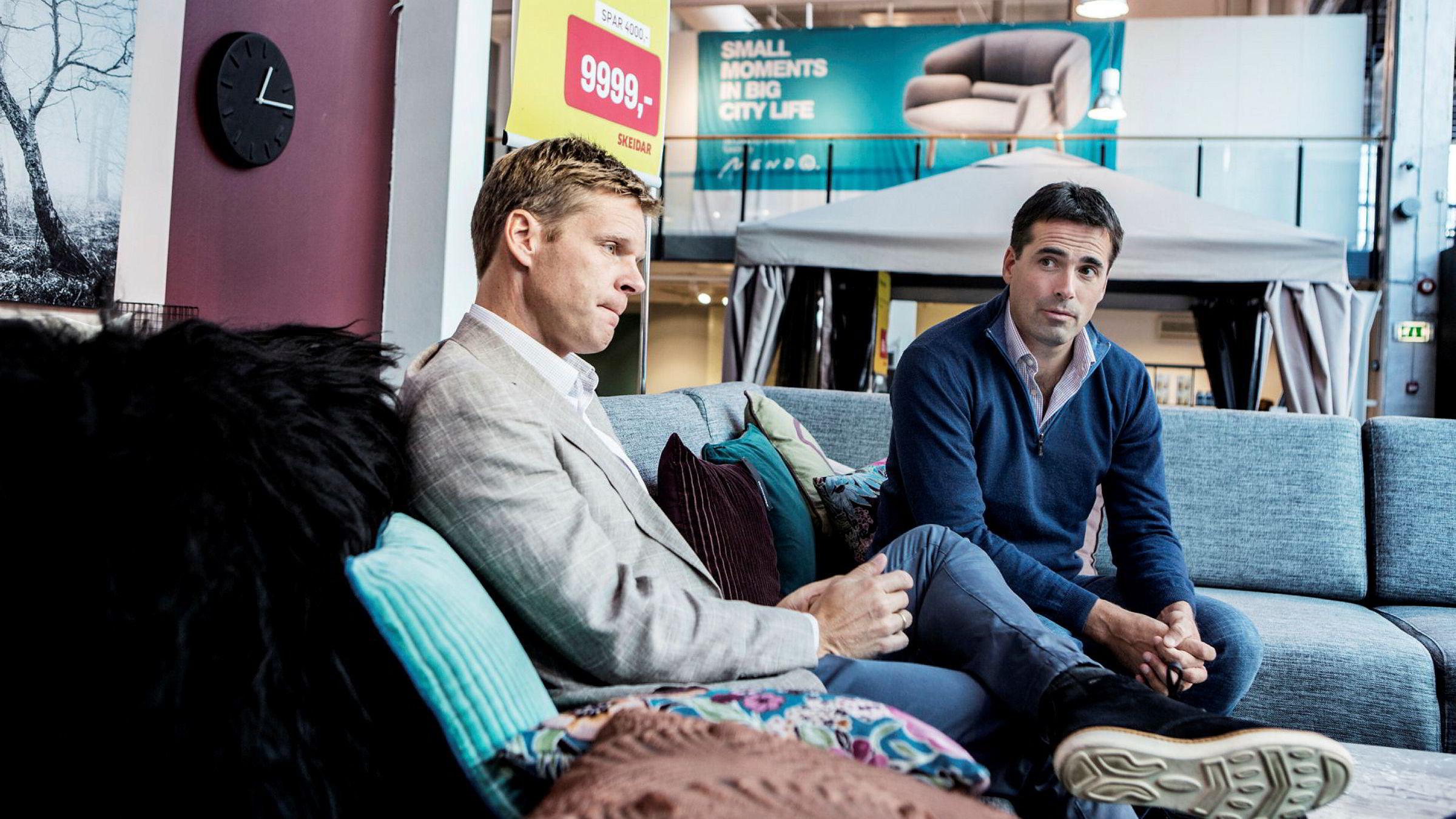 Styreleder i Skeidar, Thomas Berntsen og eier Martin Andresen (th) er bekymret for situasjonen.