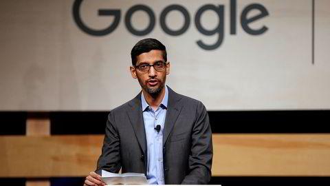 Google-toppsjef Sundar Pichai.