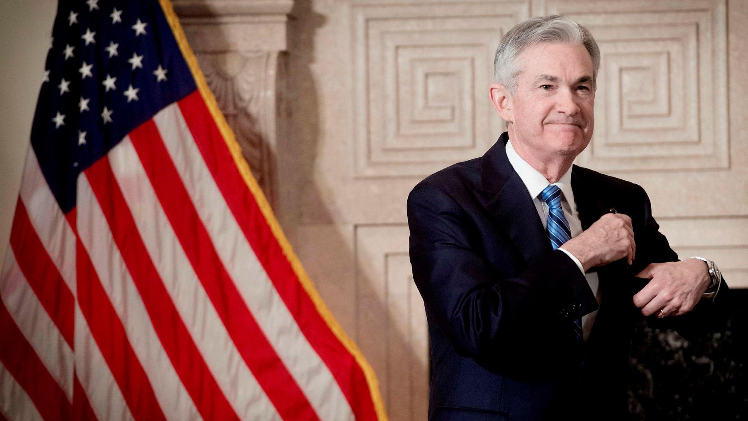 Jerome Powell er fersk sentralbanksjef i USA.