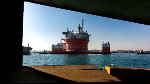 Sevan Marines banebrytende offshoreteknologi er opphavet til sylinderformede rigger. Her, Goliat, tilhørende det italienske oljeselskapet Eni, som nå befinner seg i Barentshavet. Sevan Marine er i dag utelukkende et teknologi- og rådgivningsselskap.