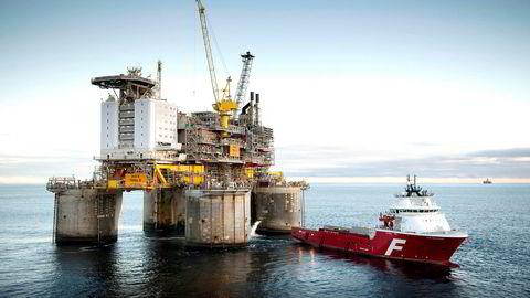 Troll B-plattformen (bildet) og andre betongplattformer i Nordsjøen kan gjenbrukes som plattformer for gasskraftverk, skriver artikkelforfatterne.