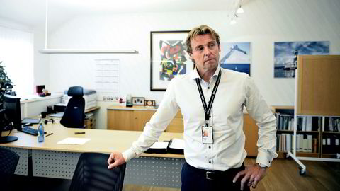 Frode Jensen, administrerende direktør i National Oilwell Varco Norway, mener han ser noen lysglimt innimellom etter tre år med bratt nedtur.