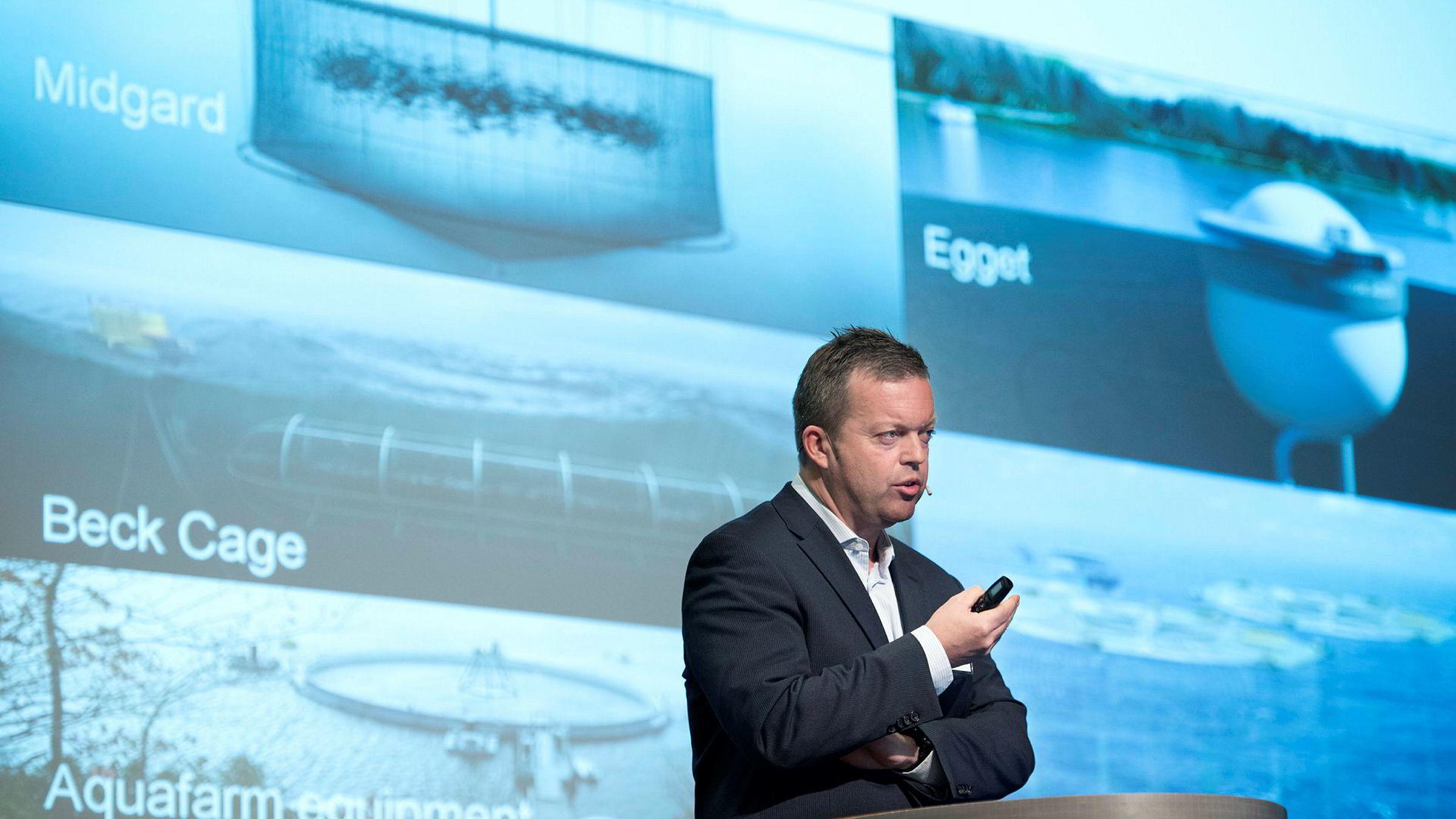 KonsernsjefAlf-Helge Aarskog i Marine Harvest snakket om det lukkede oppdrettsanlegget