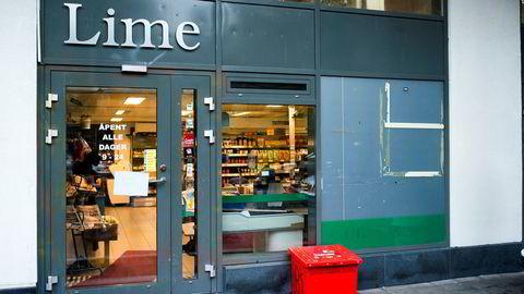 Sivilt politi aksjonerte mot Lime-butikken i Jens Bjelkesgate 71, som en del av en større aksjon mot kjeden og dens eiere i 2014.