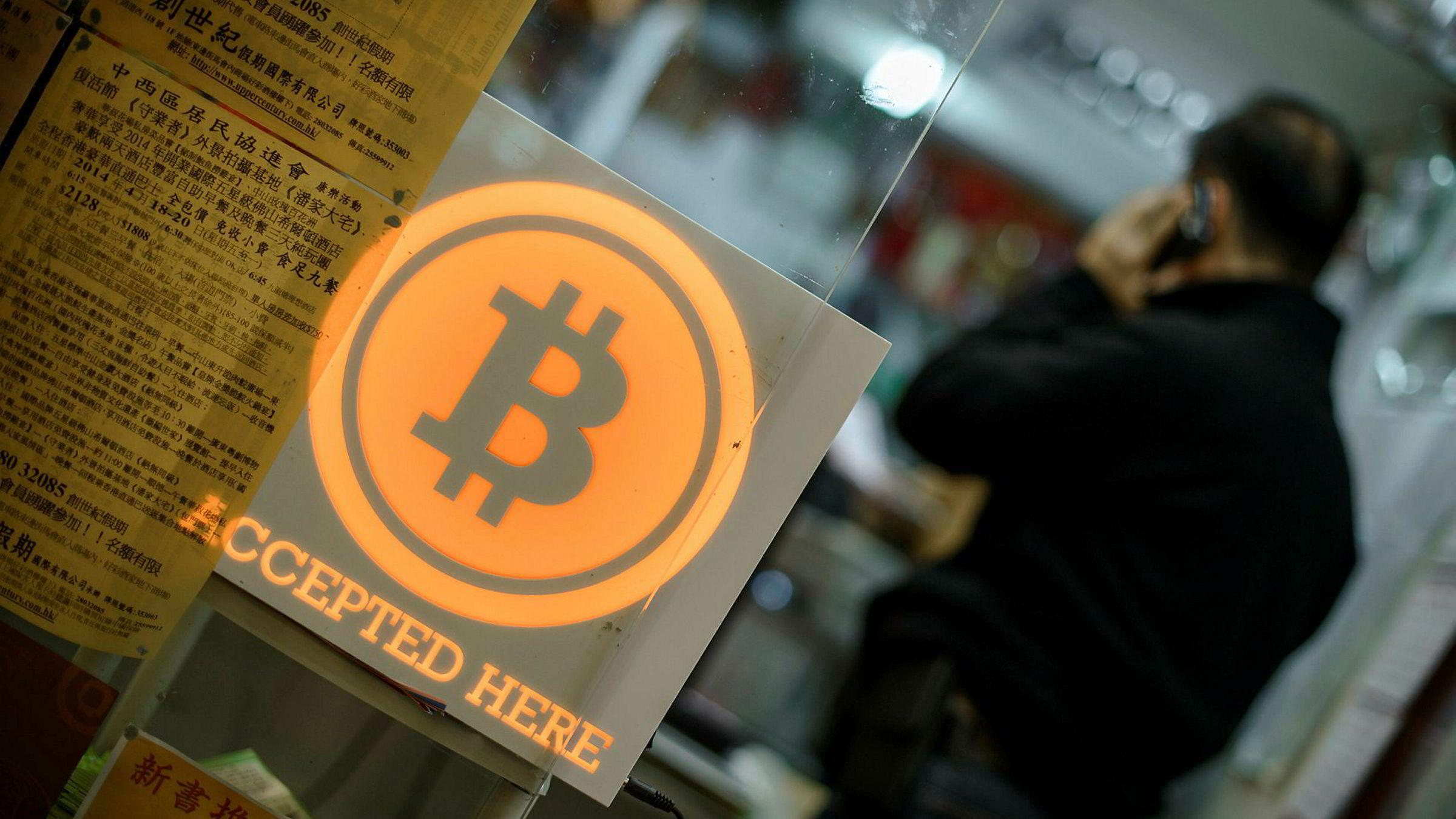 I Hong Kong har de butikker hvor man kan betale med bitcoin.