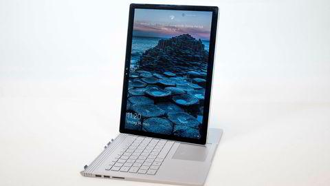 Som på andre Surface-produkter kan man også med Book bruke pc-en som nettbrett.