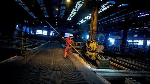 Produksjon av metallvare var noe av det som bidro til å tynge industriproduksjonen, ifølge SSB.