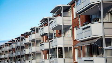 Vanligvis faller prisene i oktober, men i år pekte pilene opp også denne måneden, Her Obos-leiligheter på Lambertseter i Oslo.