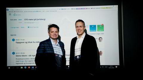 Styreleder Torstein Harildstad og gründer Jørgen Solberg har bidratt til å kutte ut referatene i Tine, og vil sjekke engasjementet før møter. – Det er viktig at det blir et dult i riktig retning, ikke pisk, sier de.