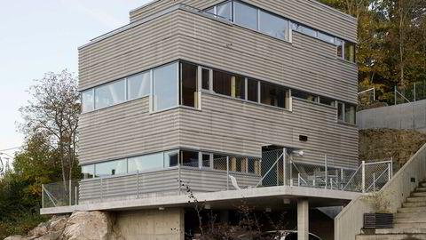 Lambda? Fasadeplatene kan kanskje minne om de omdiskuterte bølgene på det nye Munchmuseet. Disse platene er imidlertid ikke laget av aluminium, men av fibersement.