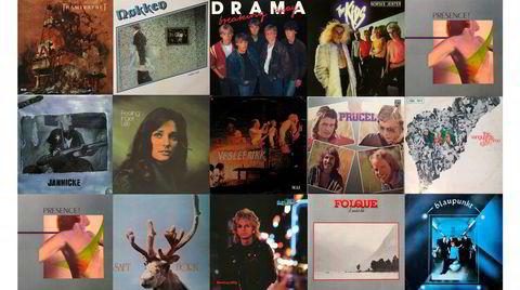 15 av flere hundre potensielle nyutgivelser med, mer eller mindre, klassiske album fra norsk musikkhistorie.