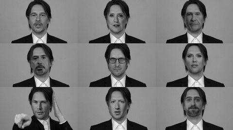 Fake Wilson. Deepfake-teknologien muliggjør syntetiske bilder/videoer der en persons ansiktstrekk legges oppå en annens – som her fra Steven Wilsons video til singlen «Self».