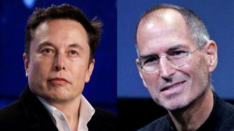 Elon Musk, Tesla-eier – «allergisk mot kritikk og uberegnelig på sosiale medier», og Steve Jobs, Apple-grunnlegger – «stormannsgal narsissist».