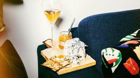 Roquefort og et glass med Château Suduiraut fra 1989 er en strålende avslutning på et måltid