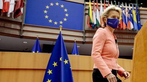 Europakommisjonens leder, Ursula von der Leyen kom mandag kveld med en uttalelse om godkjennelse av BionTech og Pfizers vaksine i Europa.