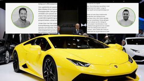 Huascar Lopez og Edwin Abad er de to grunnleggerne av Cash FX Group. Blir man global ambassadør i Cash FX Group (CFX), kan man få en Lamborghini.