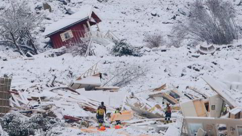 Nødetatene mener det fortsatt er håp om å finne overlevende i raset i Gjerdrum.