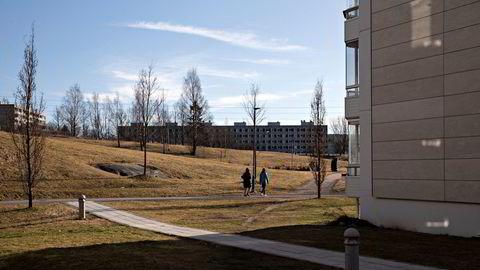 Tomme parker og lekeplasser i bydel Stovner i Oslo etter koronautbruddet, lød billedteksten på dette bildet 16. mars i år.