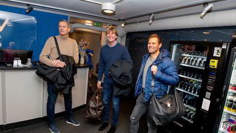 Jan Kvalheim (til venstre), Bjørn Maaseide og Thor Hushovd vil investere flere hundre millioner kroner i ny padeltenniskjede.