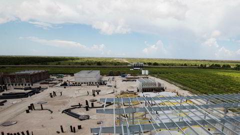 Johan Andreassen i Atlantic Sapphire bygger verdens største landbaserte oppdrettsanlegg for laks på sydspissen av Florida. Bildet er fra september 2018