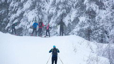 Flere har tatt turen ut på ski i marka, her fra Frognerseteren i Oslo. Illustrasjonsfoto.