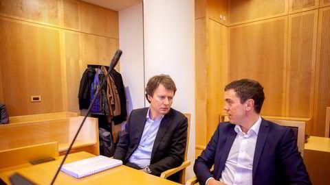 Polaris Media ble tilkjent erstatning i lagmannsretten. Nå er Høyesteretts ankeutvalg forkastet anken. Konsernsjef Per Axel Koch til venstre, og tidligere finansdirektør Per Olav Monseth til høyre.