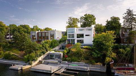 Villaen som Christian Sinding og familien har leid ut de siste årene har en fantastisk beliggenhet på Bygdøy i Oslo.