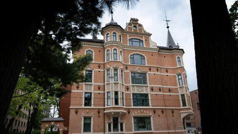 Ine Eriksen Søreide fikk låne en leilighet i dette bygget i forbindelse med sin 40-årsdag.
