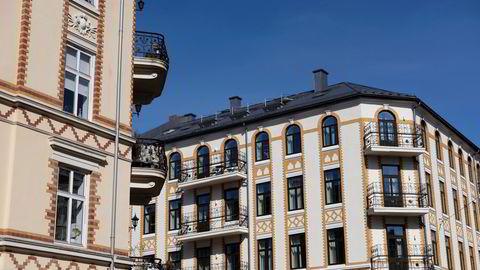 Leiligheter på Frogner i Oslo. Det siste året har boligprisene i Oslo steget 12 prosent.