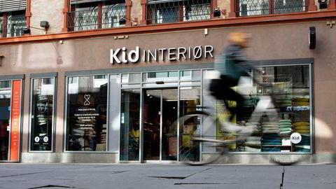 Kid-aksjen ligger i en stigende trendkanal, ifølge Asbjørn Taugbøl, analytiker i Investtech. Her fra interiørkjedens lokaler i Oslo sentrum.