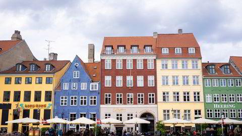 Fra turistområdet Nyhavn i København sentrum.