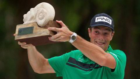 Viktor Hovland vant 11 millioner kroner i helgen.