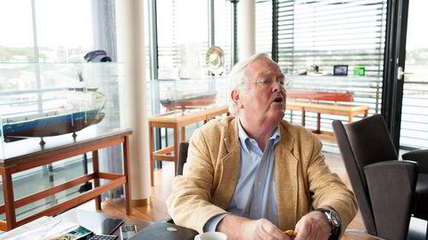 Herbjørn Hansson på Nordic American Tankers' kontor i Sandefjord.