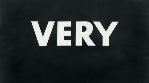 Kunstlek med ord. Ordbildet «VERY» fra 1973 har gitt tittel til hele Ed Ruscha-utstillingen på Louisiana i sommer.