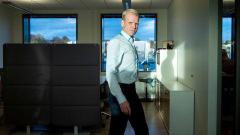Yara-sjef Svein Tore Holsether presenterte grønne planer mandag.